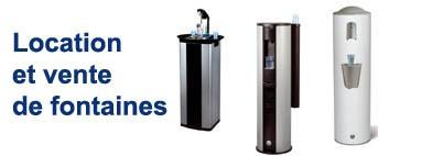 Location et vente de fontaines a eau pour l'entreprise